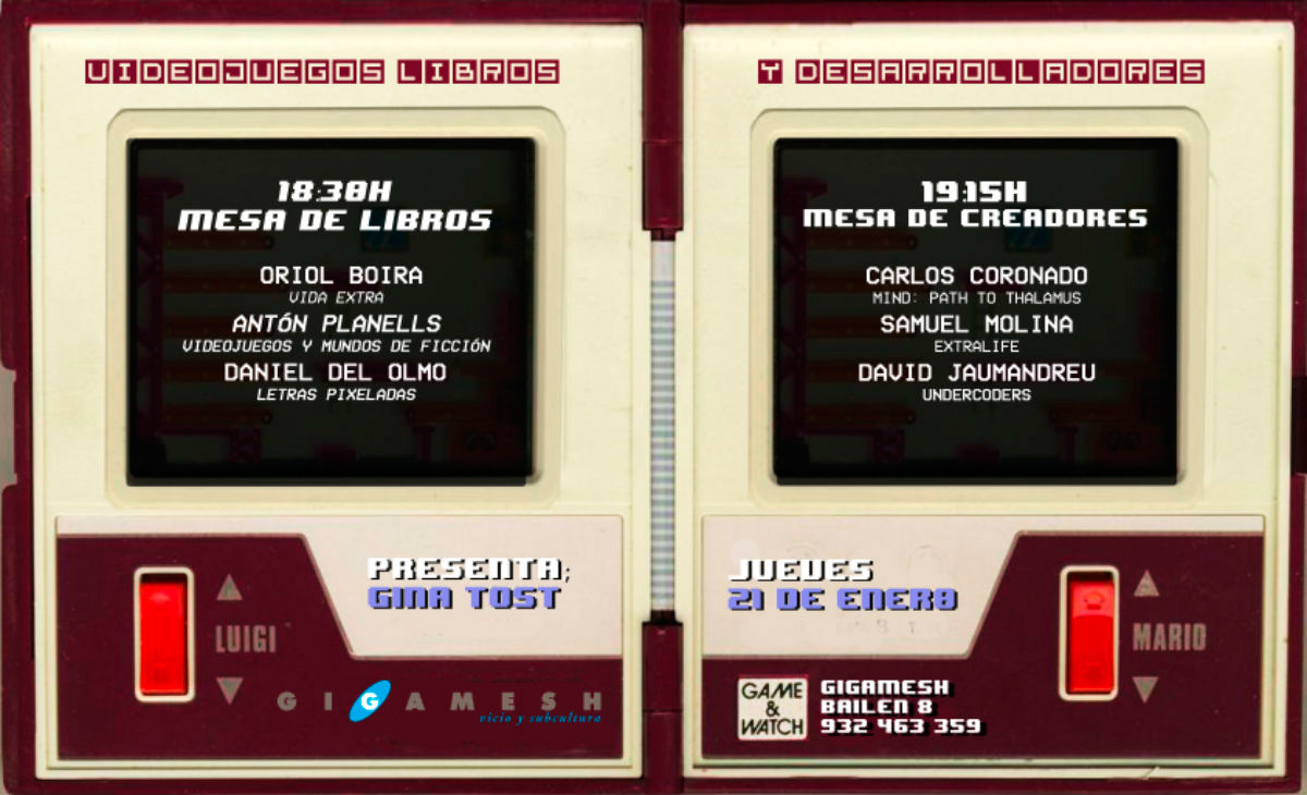 Evento videojuegos librería Gigamesh