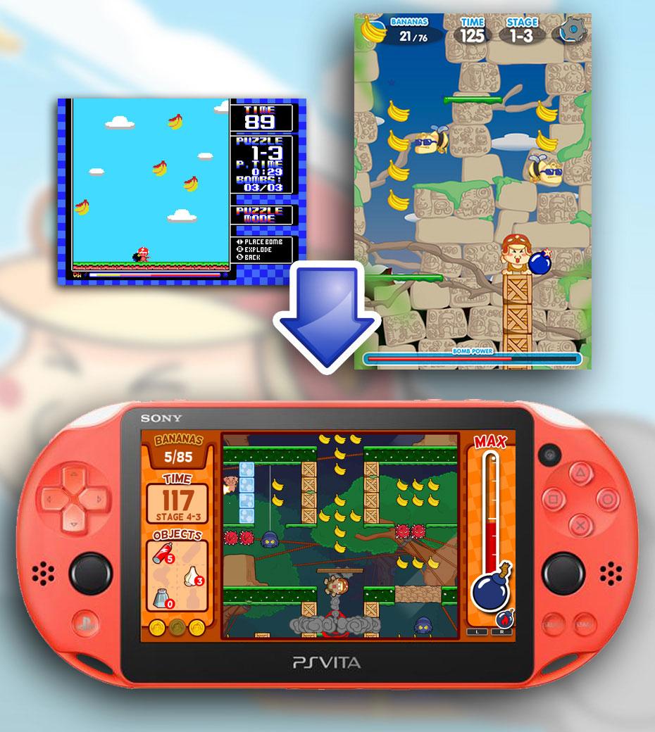 Baboon!: Planteamiento inicial retrogaming, concepto vertical para mobile y versión final del juego.