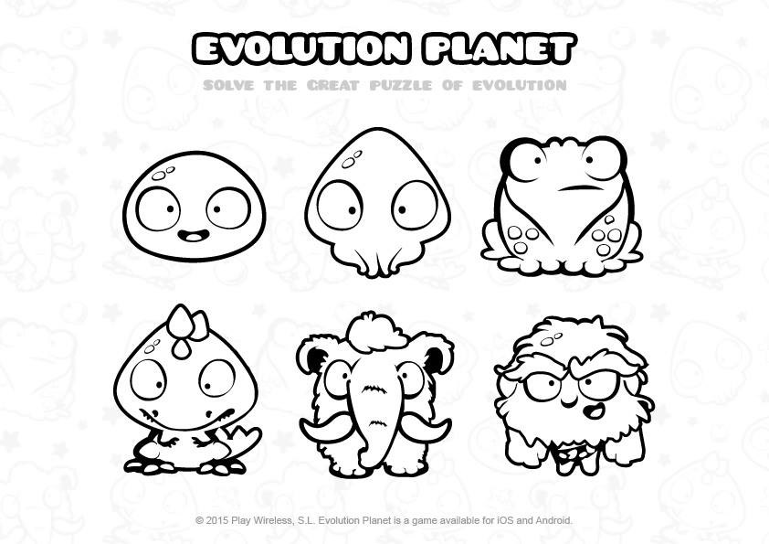 Evolution Planet - dibujos