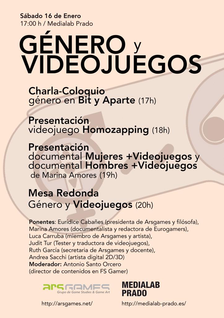 Jornada Género y Videojuegos - Programa