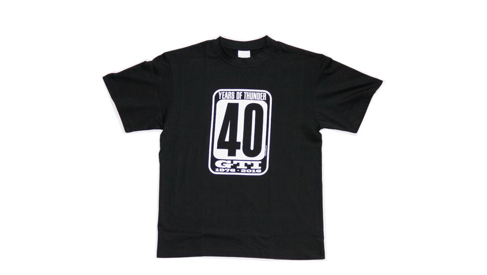 Camiseta Golf GTI 40 negro