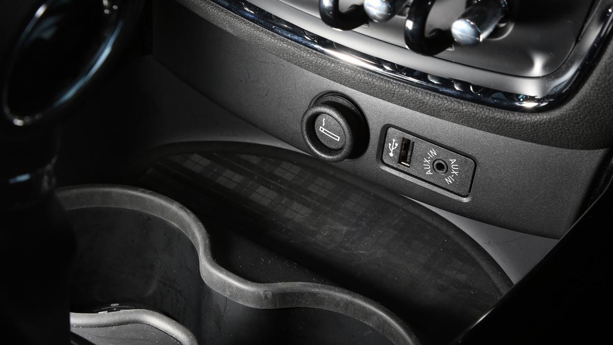 Mini Clubman Cooper S, consola central.