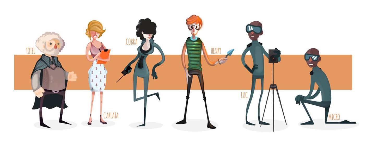 Mutropolis - Personajes