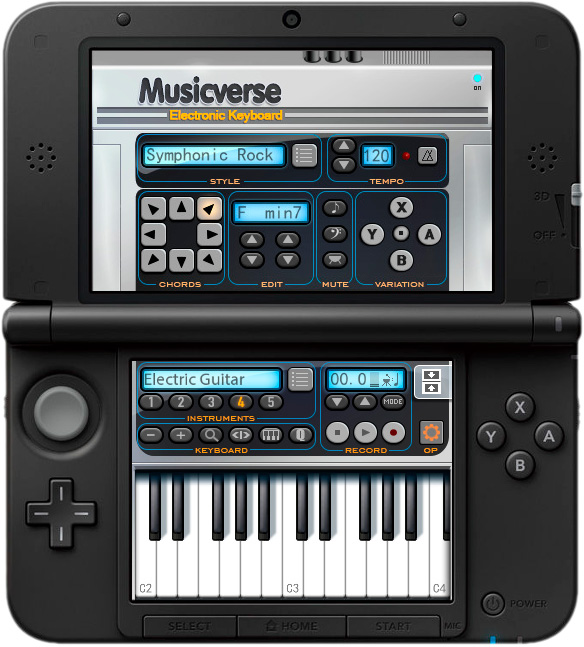 Musicverse Electronic Keyboard - 3DS