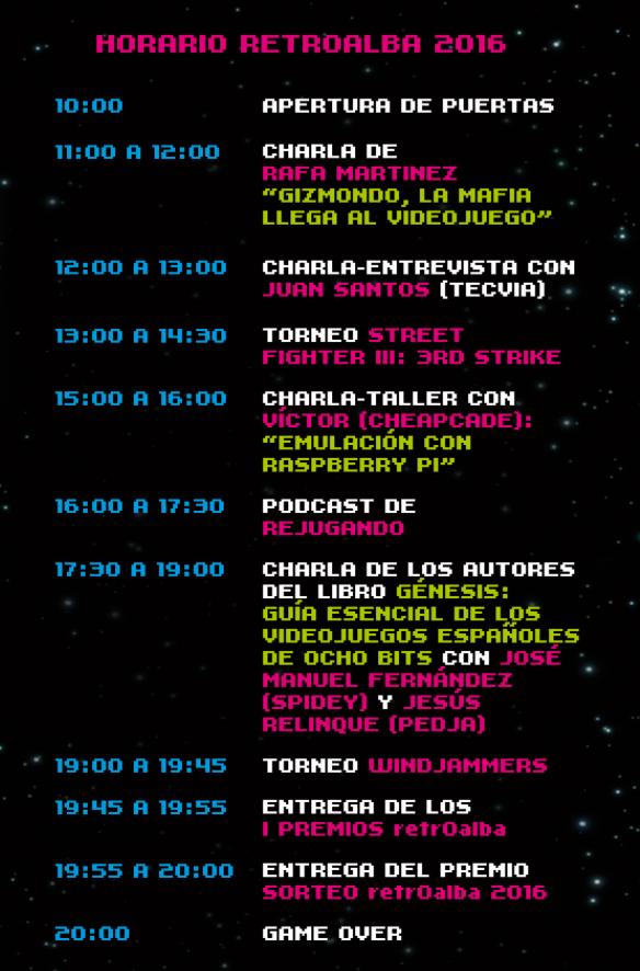 RetroAlba 2016 - Programa