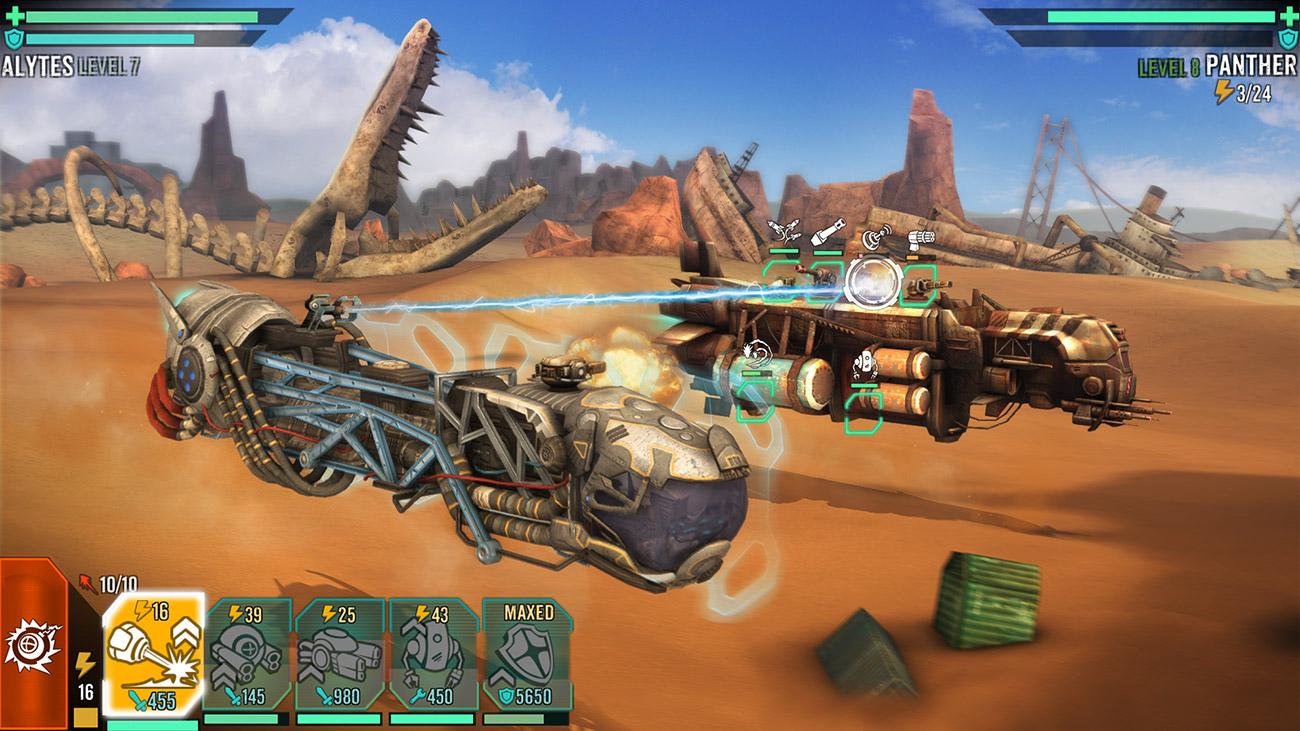 Sandstorm Pirate Wars - Batallas