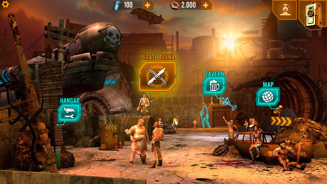 Sandstorm Pirate Wars - Ciudades